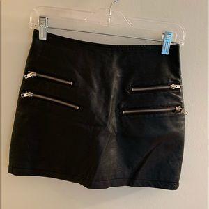 Forever 21 Pleather Zipper Skirt